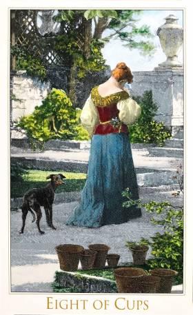 Victorian Romantic Tarot - Eight of Cups