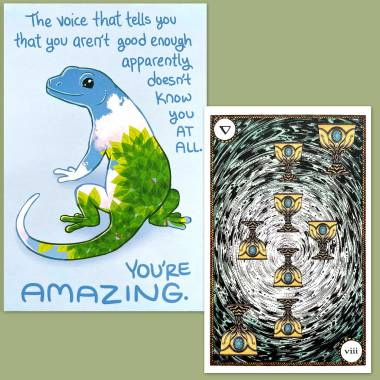 Elemental Power Tarot and Thera-Pets Cards