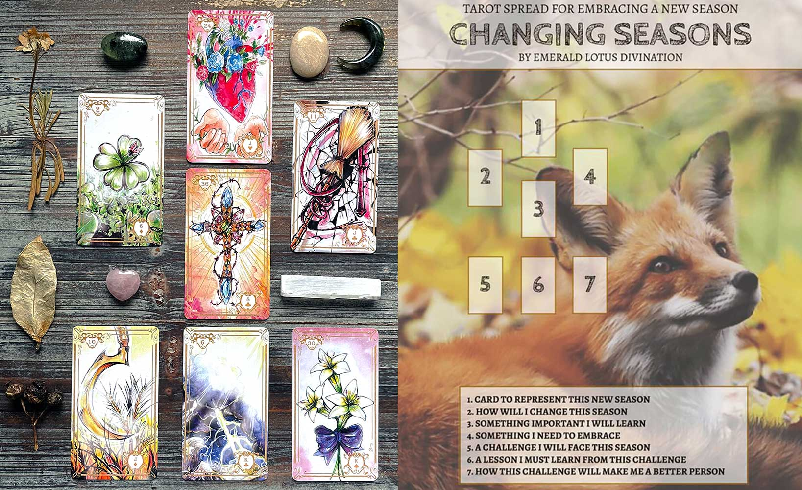 Changing Seasons Spread - Hoping Soul Lenormand