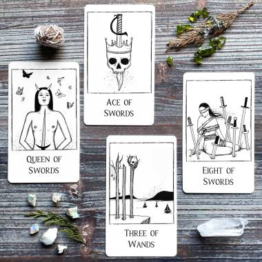 Black Line Tarot 1st Edition