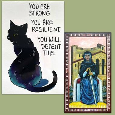 Byzantine Tarot and Thera-Pets Emotional Support Animal Cards