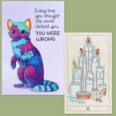 Fifth Spirit Tarot and Thera-Pets Emotional Support Animal Cards