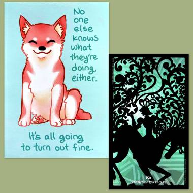 Silhouettes Tarot and Thera-Pets Emotional Support Animal Cards