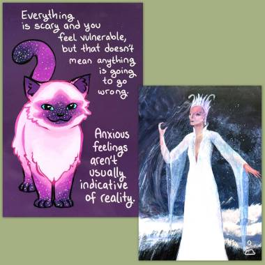 The Shimmering Veil Tarot and Thera-Pets Emotional Support Cards