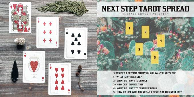Next Step Tarot Spread - Odissea Minerva Playing Cards