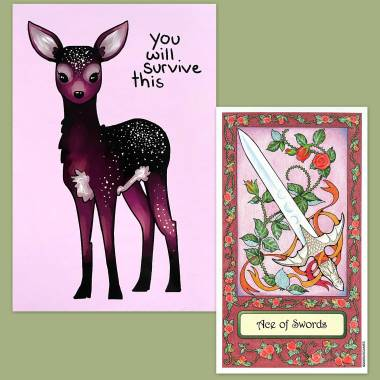 Whimsical Tarot and Thera-Pets Emotional Support Animal Cards