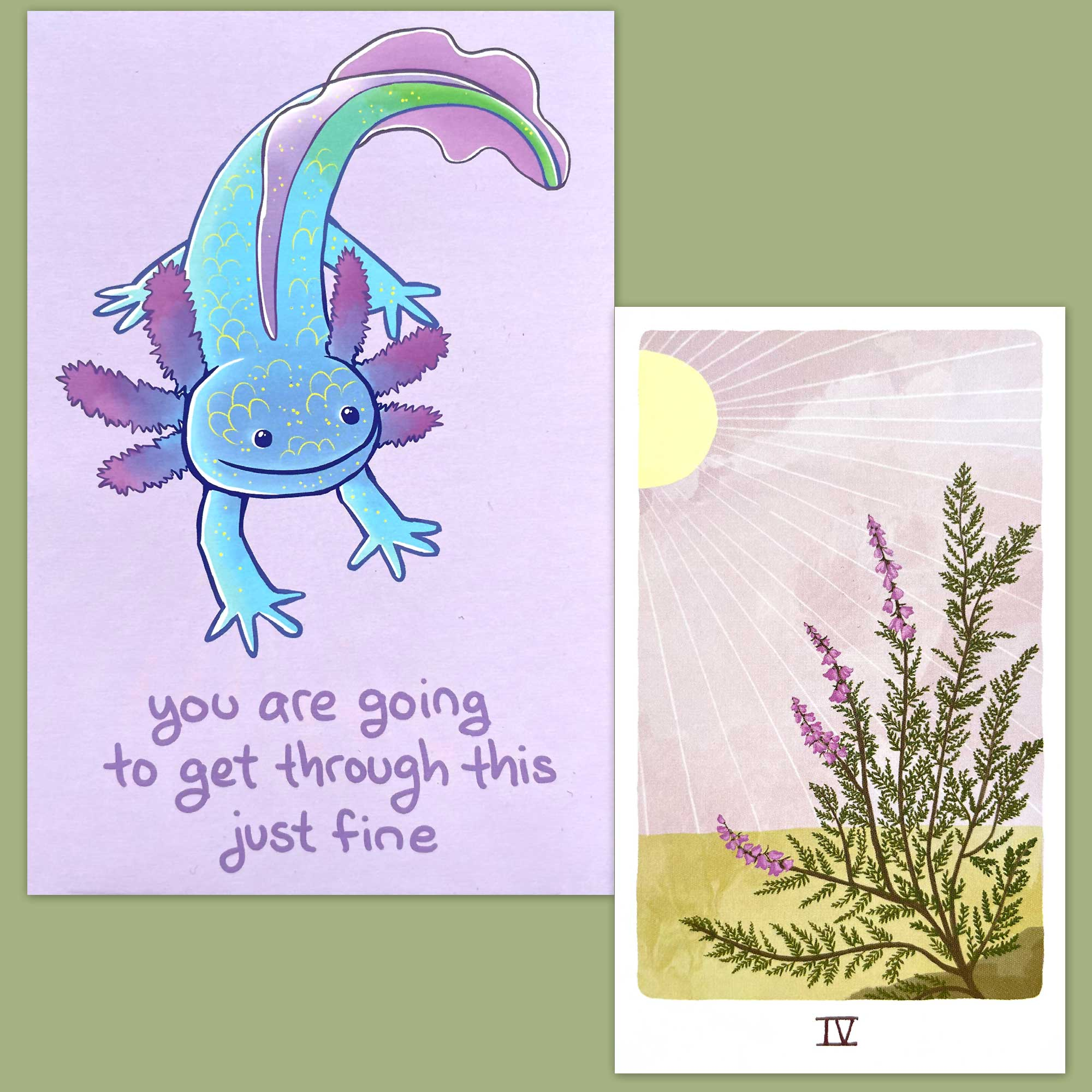 Harmony Tarot and Thera-Pets Emotional Support Animal Cards