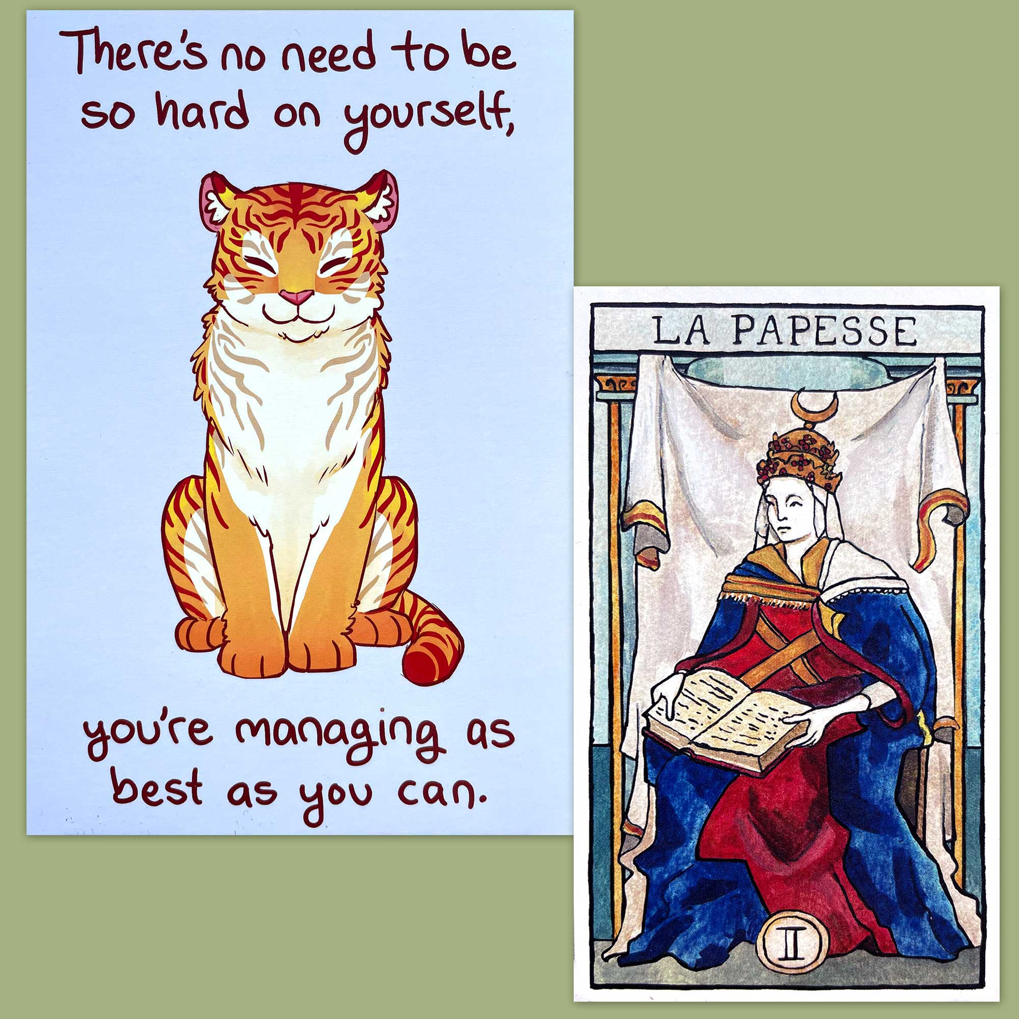 Tarot de Marseille-Waite and Thera-Pets Emotional Support Animal Cards
