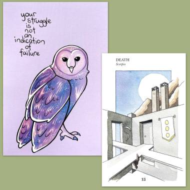 Architect's Tarot and Thera-Pet Emotional Support Animal Cards