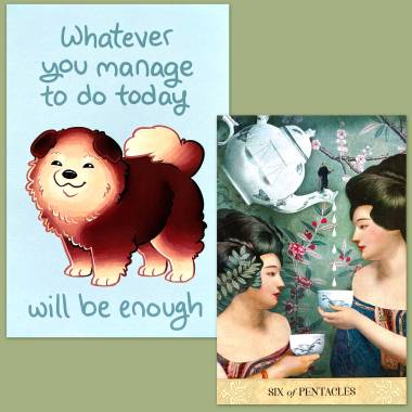 Tarot of Mystical Moments and Thera-Pets Emotional Support Animal Cards