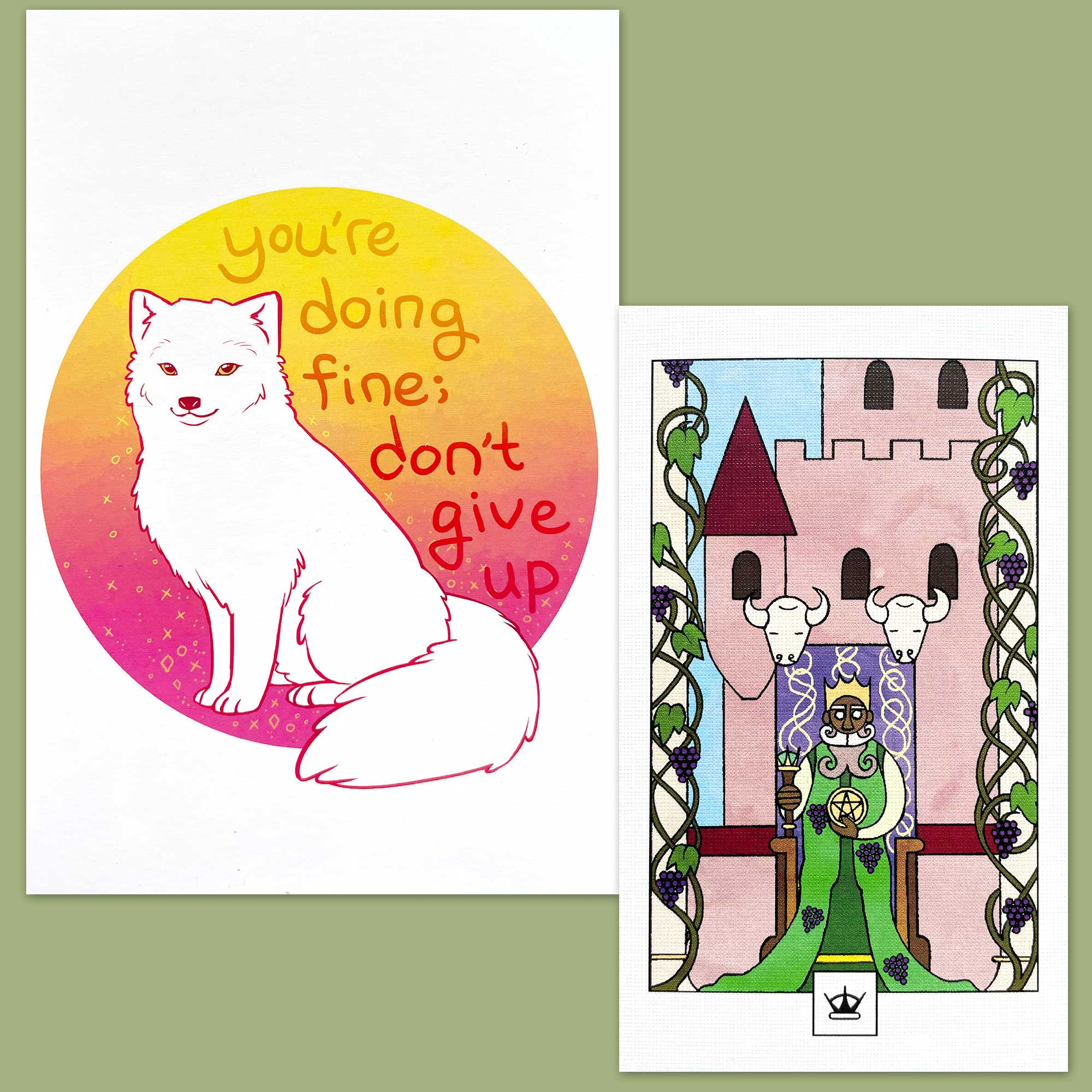Lazy Crow Tarot and Thera-Pets Emotional Support Animal Cards
