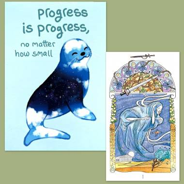 Tarot Art Nouveau and Thera-Pets Emotional Support Animal Cards