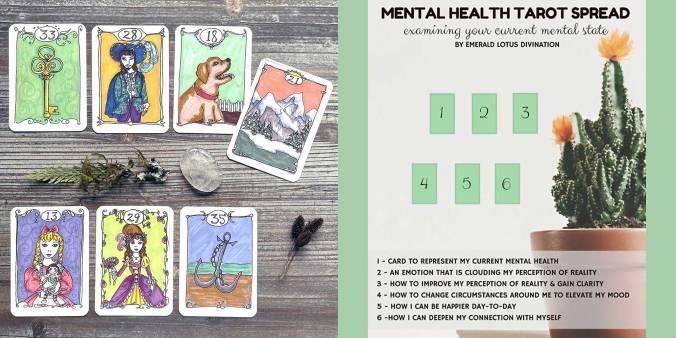 Mental Health Tarot Spread - Minute Lenormand