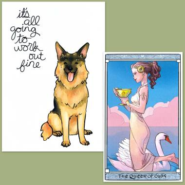 Otto Schmidt Tarot and Thera-Pets Emotional Support Animal Cards