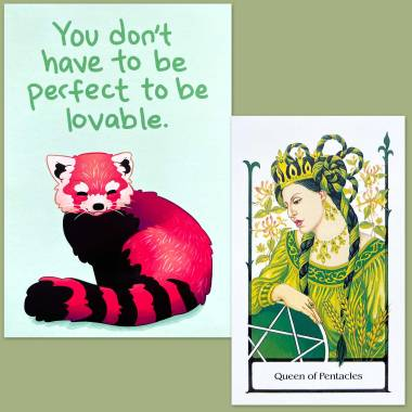 Tarot of the Old Path and Thera-Pets Emotional Support Cards