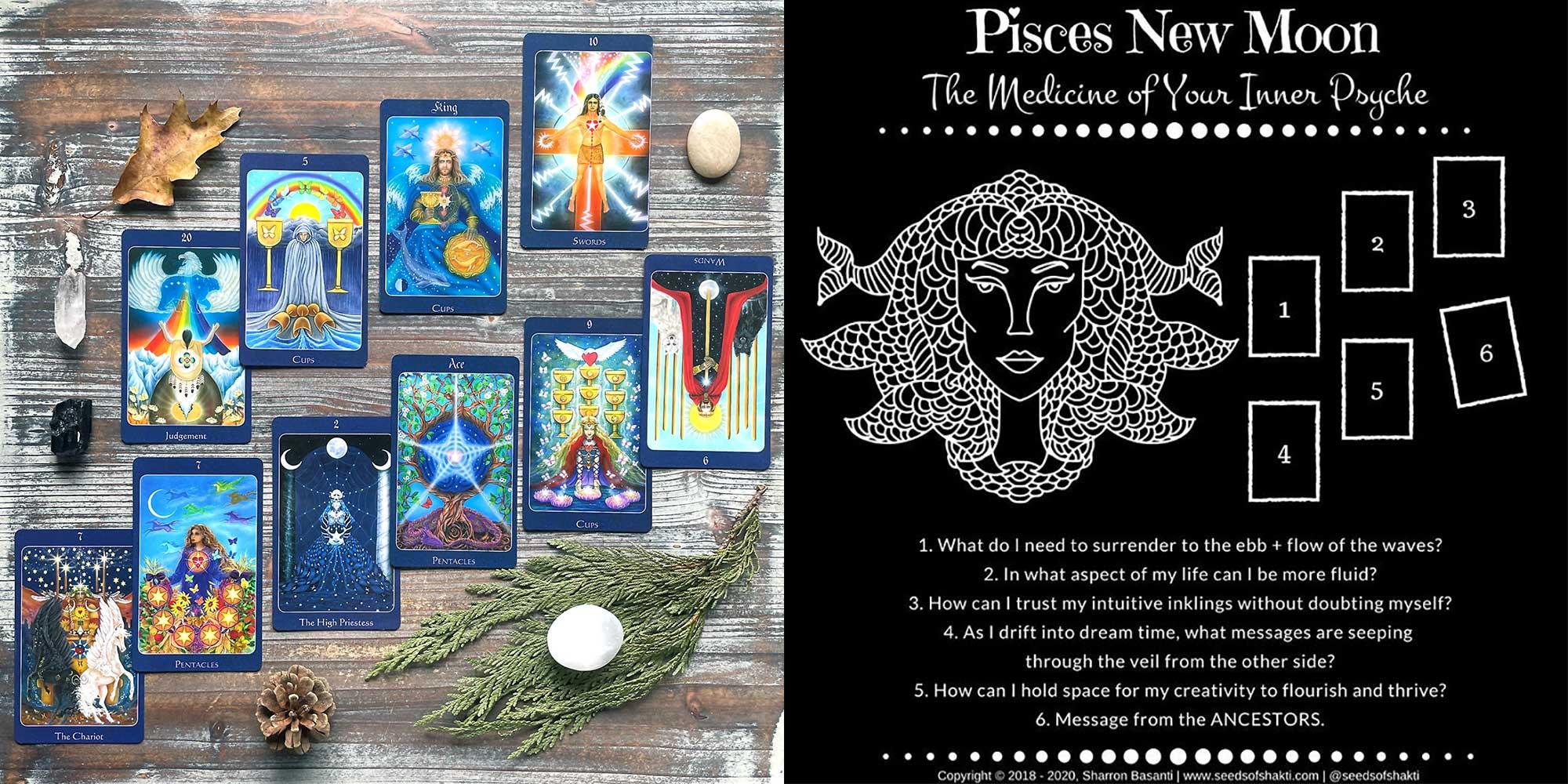 Pisces New Moon Tarot Reading - Star Tarot