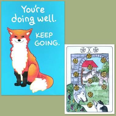 Heartspun Tarot and Thera-Pets Emotional Support Animal Cards