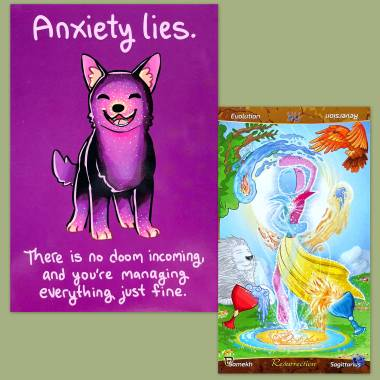 Patch Tarot and Thera-Pets Emotional Support Animal Cards