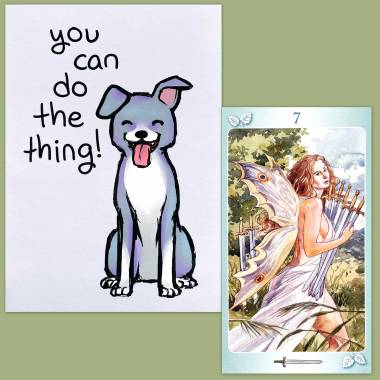 Tarot of the Nymphs and Thera-Pets Emotional Support Animal Cards