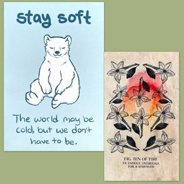 Botanical Grace Tarot and Thera-Pets Emotional Support Animal Cards