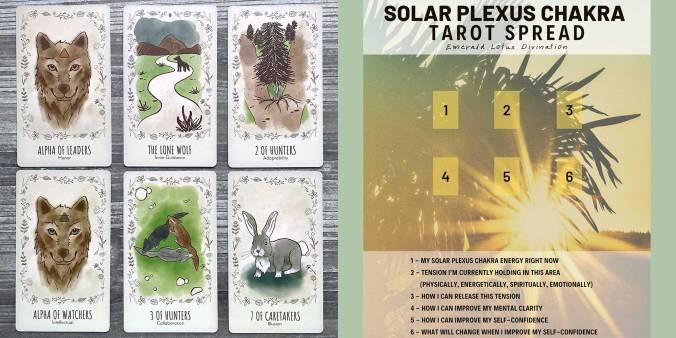 Wild Wolf Tarot - Solar Plexus Chakra Tarot Spread