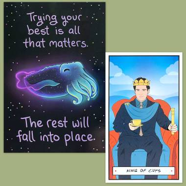 Friends Tarot and Thera-Pets Emotional Support Animal Cards