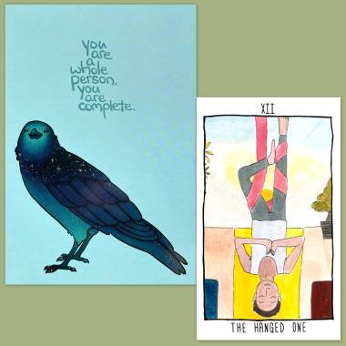 Quirky Creatives Tarot Deck and Thera-Pets Emotional Support Animal Cards