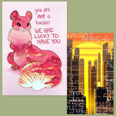 Linescape Tarot and Thera-Pets Emotional Support Animal Cards