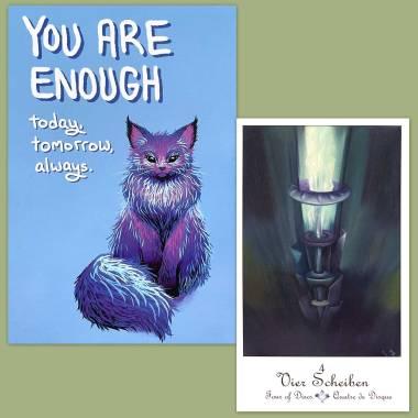 Petrak Tarot and Thera-Pets Emotional Support Animal Cards