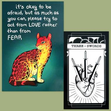 Queer Witch Tarot and Thera-Pets Emotional Support Animal Cards