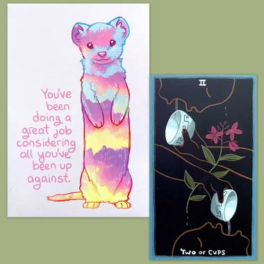 The Gentle Tarot and Thera-Pets Emotional Support Animal Cards