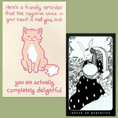 The Darlings Tarot and Thera-Pets Emotional Support Animal Cards