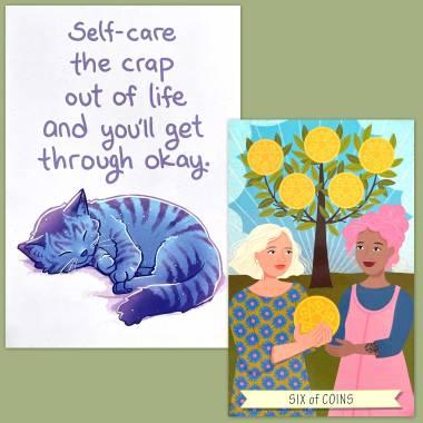 Good Karma Tarot and Thera-Pets Emotional Support Animal Cards