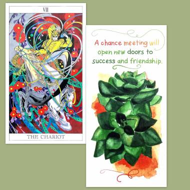 Love and Mystery Tarot and Flower Fortune Cards