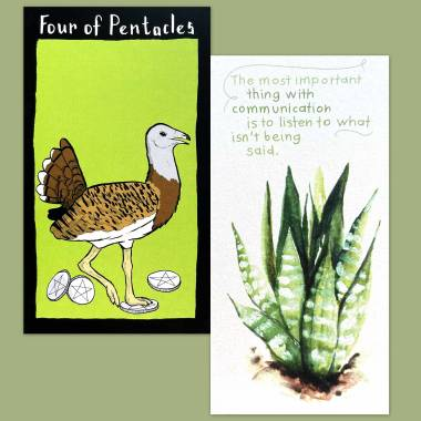Conference of the Birds Tarot and Flower Fortune Cards