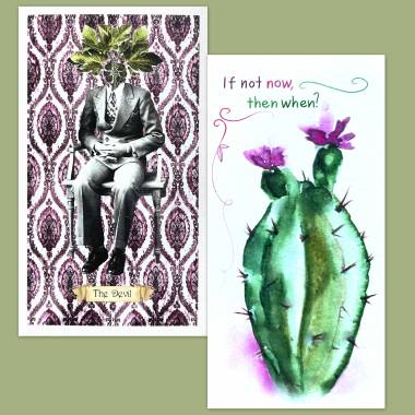 Floriography Tarot and Flower Fortune Cards