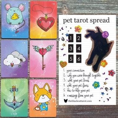 Sparkly Lenormand Reading - Pet Tarot Spread