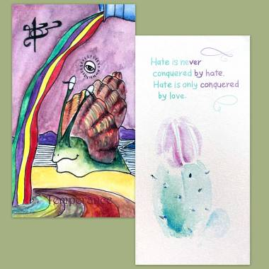 Isabel Snail A Tarot Life and Flower Fortune Cards