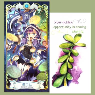 Magic Tarot and Flower Fortune Cards