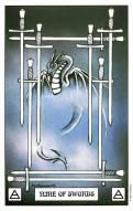 Dragon Tarot - Nine of Swords