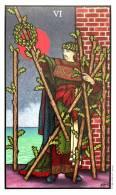 Connolly Tarot - Six of Wands