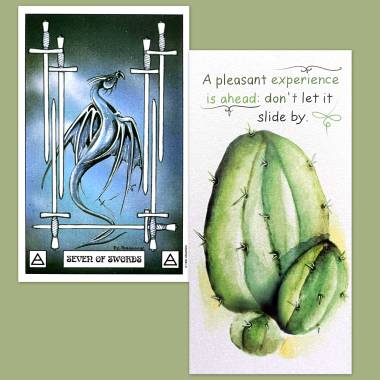 Dragon Tarot and Flower Fortune Cards