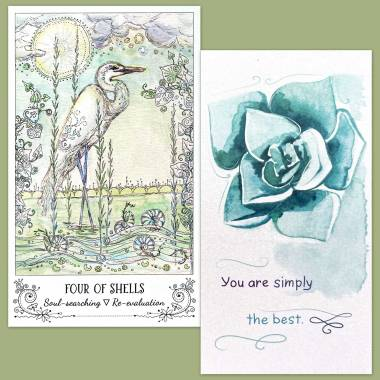 Spiritsong Tarot and Flower Fortune Cards