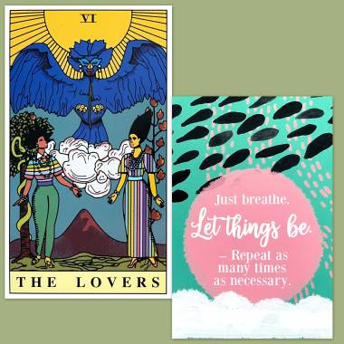 Fortune Queens: A Drag Race Tarot and Less Anxiety Affirmation Cards