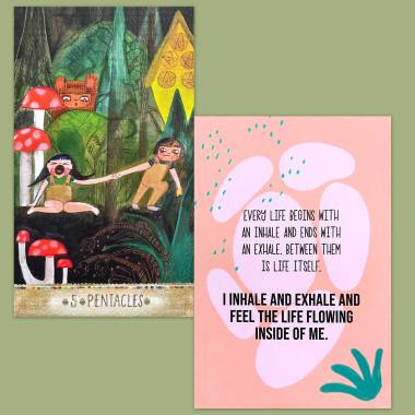 Playful Heart Tarot and Less Anxiety Affirmation Cards