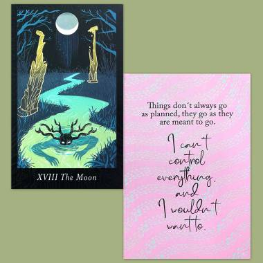 Lubanko Tarot and Less Anxiety Affirmation Cards