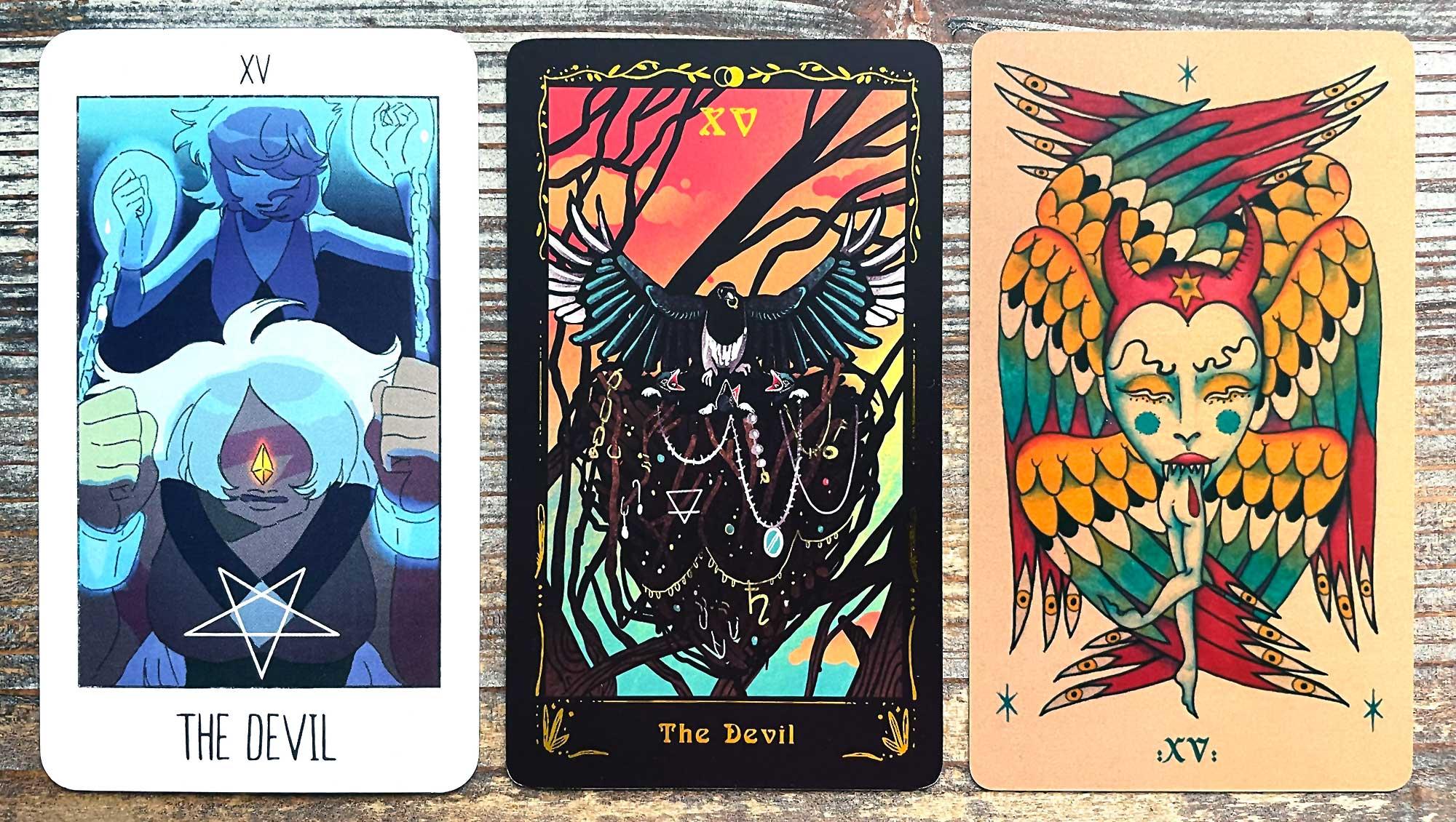 Steven Universe Tarot, Occult Ornithology Tarot, Sortilegios Tarot