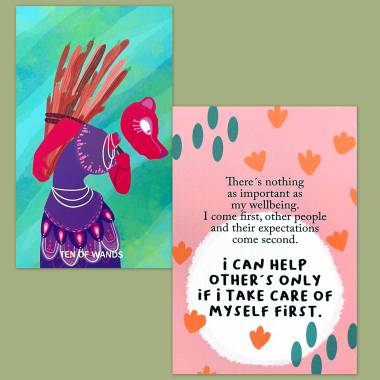 Headless Tarot and Less Anxiety Affirmation Cards