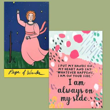 Anne of Green Gables Tarot and Less Anxiety Affirmation Cards