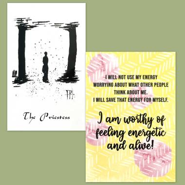David's Tarot and Less Anxiety Affirmation Cards